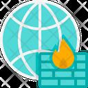 Firewall Virus Global Icon