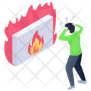 Burning Wall Firewall Defence Defence Wall Icon