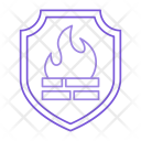 Fire Shield Security Icon
