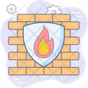 Firewall Cyber Security Icon