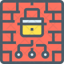 Firewall Secure Safety Icon