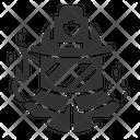Firewarden Helmet Fire Protection Icon