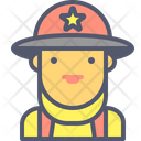 Firewoman Firefighter Fire Icon