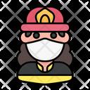 Firewoman Avatar Woman Icon