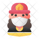 Firewoman Firefighter Avatar Icon