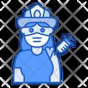 Firewoman Vaccination Icon