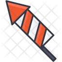 Firework Rocket Bomb Icon