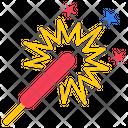 Patriotic Firework Sparklers Firework Icon