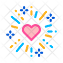 Heart Firework Wedding Icon