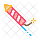 Lighted Fireworks Wick Icon