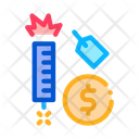 Firework Label Price Icon