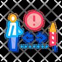 Firework Safety Distance Icon