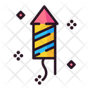 Fireworks Rocket Fire Cracker Icon