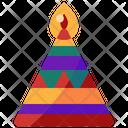 Candle Diwali Festivity Icon