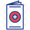 First Aid Manual Medical File Medical Report Icon