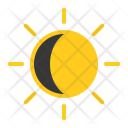 First quarter sun Icon