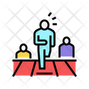 First Leader Running Icon