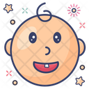 Baby Face Baby Tooth First Tooth Icon