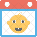 First Tooth Calendar Icon