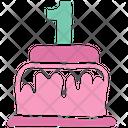 Cake First Birthday Birthday Cake Icon