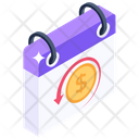 Fiscal Year Budgetary Year Business Year Icon