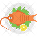 Cooked Fish Food Icon