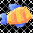 Fish Striped Animal Icon