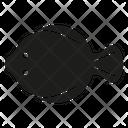 Fish Flatfish Plaice Icon