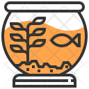 Fish Pot Decoration Icon