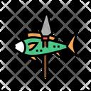 Fish Spear Color Icon