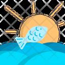 Fish Sea Sun Icon
