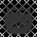 Aquarium Rounded Animal Crane Icon