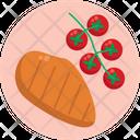 Keto Diet Fish Cherry Tomatoes Icon