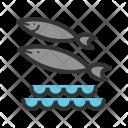 Fish Swimming Water Icon
