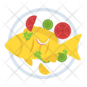 Fried Fish Cooked Icon