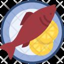 Fish Dish Nonveg Icon