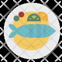 Fish Food Steak Icon