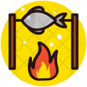 Fish Seafood Camping Icon