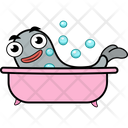 Fish Bathing Icon