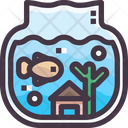Fish Bowl Fish Pot Water Pot Icon