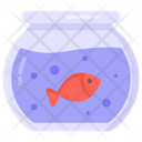 Fish Pot Fish Bowl Aquarium Icon