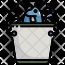 Fish Bucket Bucket Basket Icon