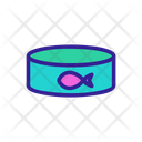 Tuna Fish Contour Icon