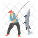 Fish Catching Fishing Fisherman Icon