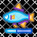 Fish Cut Fin Icon