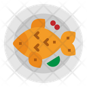 Fish Fried Dish Icon
