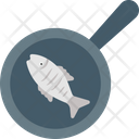 Fish Frying Fried Fish Seafood Icon