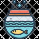 Fish Inside The Bowl Fish Fishbowl Icon