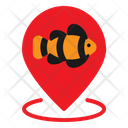 Pin Gps Fish Icon