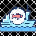 Fish Processing Vessel Icon